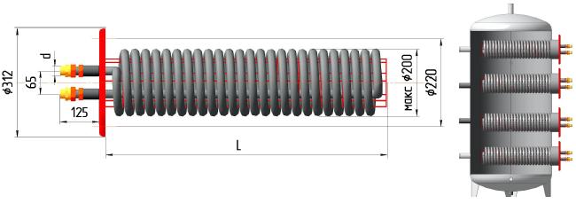 Пластинчатый теплообменник для нефтепродуктов Kelvion NF350 Камышин