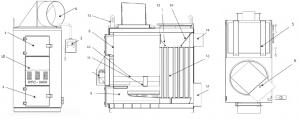Общий вид теплогенератора БТС-В и его узлы 120-200 кВт