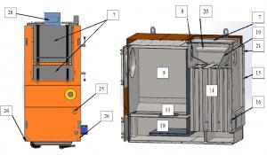 Конструкция котла большой мощности БТС-М - от 170 кВт до 360 кВт